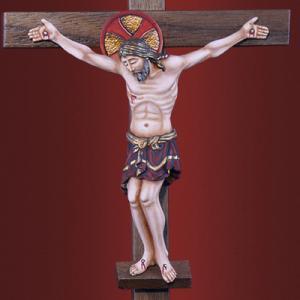 Распятие Иисуса Христа  на деревянном кресте