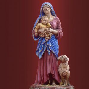 Пресвятая Богородица с младенцем и ягненком
