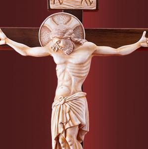 Распятие Иисуса Христа на голгофе  на деревянном кресте