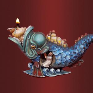 Подсвечник «Иона во чреве кита»
