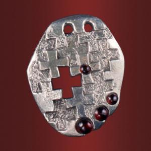 Медальон «Душе моя» с камнями
