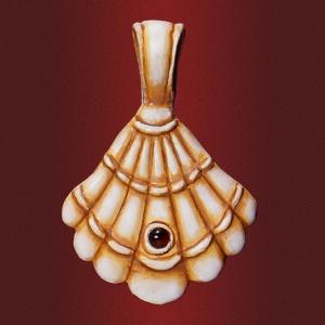 Медальон «Пилигрим»  с камнем