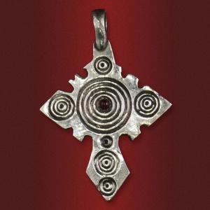 Крест «Уповаю на Тя» с камнем
