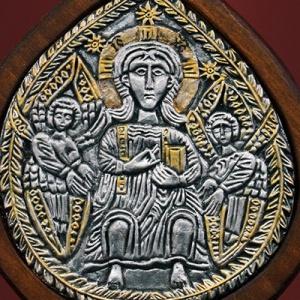 Плакетка «Побеждающий на престоле» в киоте