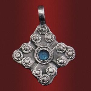 Медальон «Царство Небесное» (Василиа) с камнем