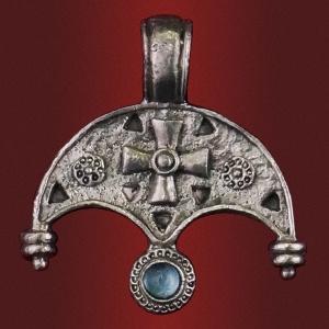 Медальон «Радость» с камнем