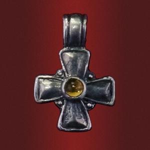Крест «Ангел Господень» с камнем