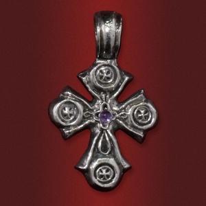 Крест «Купина неопалимая» с камнем
