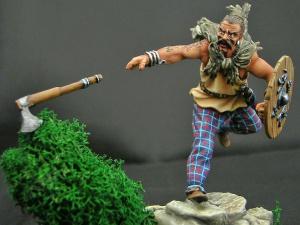 Кельтский воин с топором