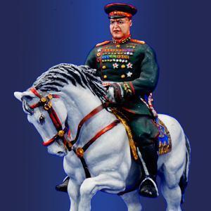 Маршал Жуков Г.К. на Параде Победы, 1945 год