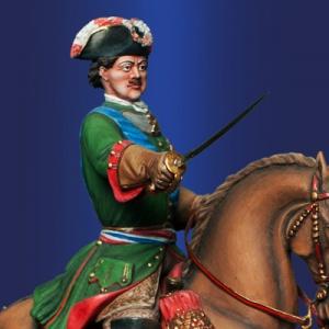 Петр Первый на Полтавском сражении, 1709г