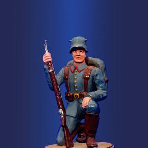 Немецкий рядовой на колене, 1916